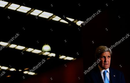 Former US Secretary Of State John F. Kerry speaks during the Global Table conference at the Melbourne Showgrounds in Melbourne, Australia, 03 September 2019. Key leaders in food, agricultural science, technology and medicine are in Melbourne for a three-day global conference addressing questions around sustaining a growing population, the climate crisis and unsustainable levels of development.