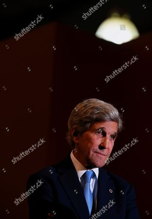 Stock Image of Former US Secretary Of State John F. Kerry speaks during the Global Table conference at the Melbourne Showgrounds in Melbourne, Australia, 03 September 2019. Key leaders in food, agricultural science, technology and medicine are in Melbourne for a three-day global conference addressing questions around sustaining a growing population, the climate crisis and unsustainable levels of development.