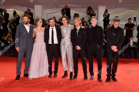 Joel Edgerton, Lily-Rose Depp, David Michod, Timothee Chalamet, Tom Glynn-Carney, Sean Harris and Ben Mendelsohn