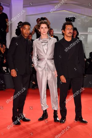 Stock Picture of Kid Cudi, Timothee Chalamet and Haider Ackermann