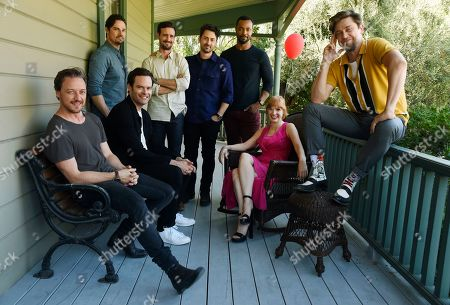 "Stock Photo of Jessica Chastain, Jay Ryan, James McAvoy, Bill Hader, Andy Bean, James Ransone, Isaiah Mustafa, Andy Muschietti. Andy Muschietti, far right, director of ""It Chapter Two,"" poses for a portrait with cast members, from left, James McAvoy, Jay Ryan, Bill Hader, James Ransone, Andy Bean, Isaiah Mustafa and Jessica Chastain at Heritage Square Museum, in Los Angeles. There are high expectations for the sequel opening Thursday, Sept. 5, especially since the first film was not only loved by critics but became the highest grossing horror movie of all time"