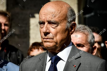 The Funeral of former president of general council and senator Philippe Madrelle take place at the Notre-Dame church in Bordeaux. In presence of constitutional council member Alain Juppe.