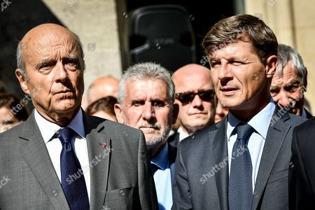 The Funeral of former president of general council and senator Philippe Madrelle take place at the Notre-Dame church in Bordeaux. In presence of constitutional council member Alain Juppe an Bordeaux's mayor Nicolas Florian.