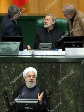 Editorial photo of Iranian President Rouhani addresses parliament in the capital Tehran, Iran (Islamic Republic Of) - 03 Sep 2019