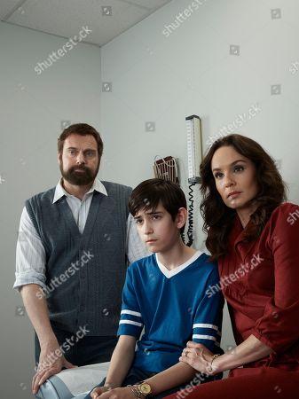 Stock Picture of Michael Shanks as Will Sanders, Ricardo Ortiz as Ryan Sanders and Sarah Wayne Callies as Margaret Sanders