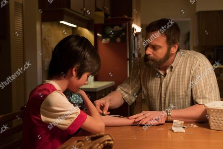 Stock Image of Ricardo Ortiz as Ryan Sanders and Michael Shanks as Will Sanders