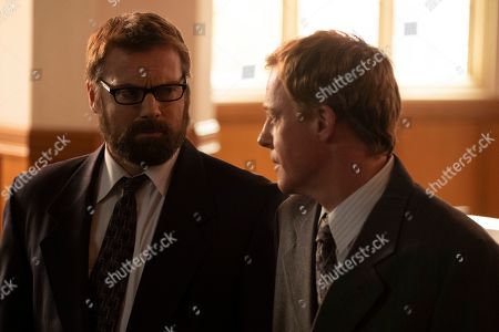 Michael Shanks as Will Sanders and David Lewis as Lawrence Hartley