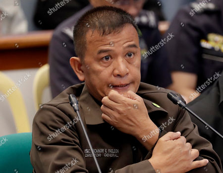 """Nicanor Faeldon, the Director General of the Bureau of Corrections testifies for the second straight day on the Senate probe in the failed attempt to release from prison former Mayor Antonio Sanchez who was convicted in the rape and murders of two students in 1993 in suburban Pasay city south of Manila, Philippines. Calls are mounting for Faeldon's resignation after his office allegedly permitted the release of nearly 2,000 convicted heinous criminals whose actions are not covered by the """"Good Conduct Time Allowance"""" law"""