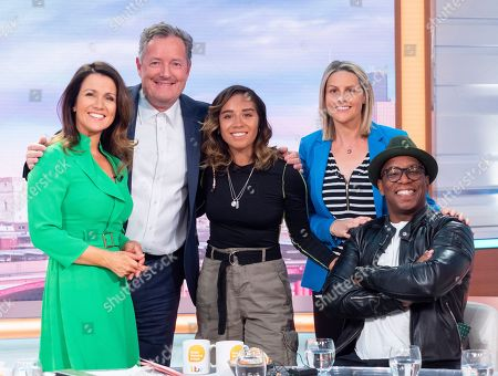 Susanna Reid, Piers Morgan, Kelly Smith, Chelcee Grimes and Ian Wright