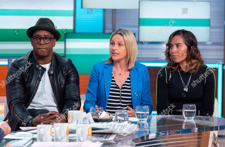 Ian Wright, Kelly Smith and Chelcee Grimes.