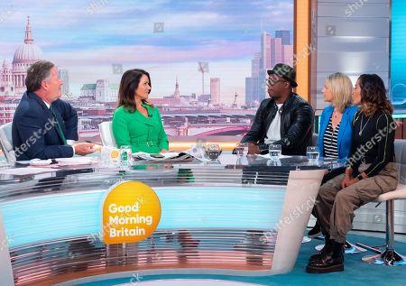 Piers Morgan, Susanna Reid, Ian Wright, Kelly Smith and Chelcee Grimes.