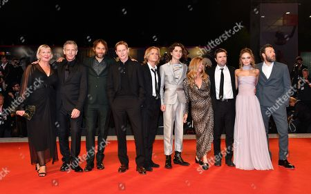 Liz Watts, Ben Mendelsohn, Jeremy Kleiner, Sean Harris, Tom Glynn Carney, Timothe Chalamet, producer Dede Gardner, David Michod, Lily-Rose Depp and Joel Edgerton