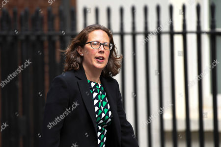 Britain's Leader of the House of Lords, Baroness Natalie Evans arrives at 10 Downing Street, in London
