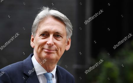 Former British chancellor of the exchequer Philip Hammond departs 10 Downing Street following a meeting with Prime Minister Boris Johnson in London, Britain, 03 September 2019. British Prime Minister Boris Johnson is facing a vote in parliament over stopping a no deal Brexit.