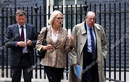 Conservative Member of Parliament Nicholas Soames (R) with Conservative Party rebels as they depart 10 Downing Street following a meeting with Prime Minister Boris Johnson in London, Britain, 03 September 2019. British Prime Minister Boris Johnson is facing a vote in parliament over stopping a no deal Brexit.