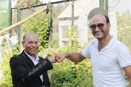 Editorial image of Moncef Marzouki at home in Sousse, Tunisia - 27 Aug 2019