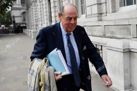 Conservative MP Nicholas Soames arrives at the cabinet office in London, Britain, 03 September 2019. Britain's Prime Minister Boris Johnson faces a vote in parliament from Tory rebels who are to join Labour in bringing forward a bill designed to stop the UK leaving the EU on 31 October without an agreement.