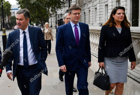 Stock Picture of Conservative MPs (L-R) David Gawke, Phillip Hammond, Greg Clarke and Caroline Noakes arrive at the cabinet office in London, Britain, 03 September 2019. Britain's Prime Minister Boris Johnson faces a vote in parliament from Tory rebels who are to join Labour in bringing forward a bill designed to stop the UK leaving the EU on 31 October without an agreement.