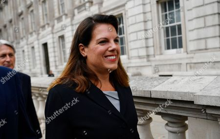 Conservative MP Caroline Noakes arrives at the cabinet office in London, Britain, 03 September 2019. Britain's Prime Minister Boris Johnson faces a vote in parliament from Tory rebels who are to join Labour in bringing forward a bill designed to stop the UK leaving the EU on 31 October without an agreement.