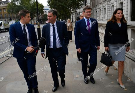 Conservative MPs (2L-R) David Gawke, Phillip Hammond, Greg Clarke and Caroline Noakes arrive at the cabinet office in London, Britain, 03 September 2019. Britain's Prime Minister Boris Johnson faces a vote in parliament from Tory rebels who are to join Labour in bringing forward a bill designed to stop the UK leaving the EU on 31 October without an agreement.