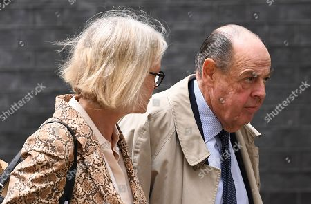 British Conservative Party lawmaker Nicholas Soames leaves 10 Downing Street in London