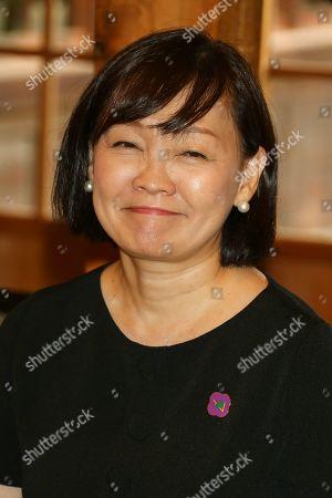 Stock Image of Akie Abe, wife of Japan's Prime Minister Shinzo Abe