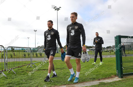 Alan Browne and Ronan Curtis arrive