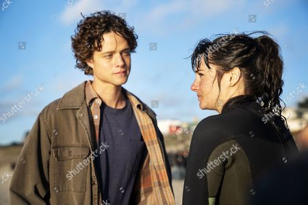 Douglas Smith as Corey Brockfield and Shailene Woodley as Jane Chapman
