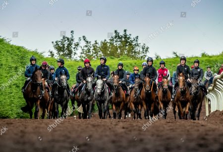 Champion jockeys, Joseph O'Brien, AP McCoy, Ruby Walsh, Paul Carberry and Charlie Swan are pictured together ahead of riding in the Pat Smullen Champions Race for Cancer Trials Ireland at the Curragh on Sunday September 15th. Five of the nine competing jockeys rode out at Joseph O'Brien's yard in Co. Kilkenny today to prepare for the charity race taking place at The Curragh as part of Longines Irish Champions Weekend. The race, organised by Pat Smullen, is taking place to raise awareness and funds for Cancer Trials Ireland. Nine-time Flat champion jockey, Pat Smullen was diagnosed with pancreatic cancer in March 2018 and is currently undergoing further treatment. The race will take place on day two of Irish Champions Weekend at The Curragh on Sunday, September 15th. Pictured today is (L-R) Champion jockeys, Ruby Walsh on Glen of Aherlow, Charlie Swan on Shadow Seven, Joseph O'Brien on Abyssinian, Paul Carberry on Punches Cross and AP McCoy on Moment in History