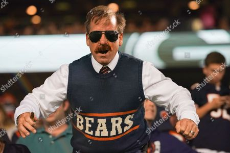 Stock Photo of Chicago Bears fan impersonates former Legend Head Coach Mike Ditka