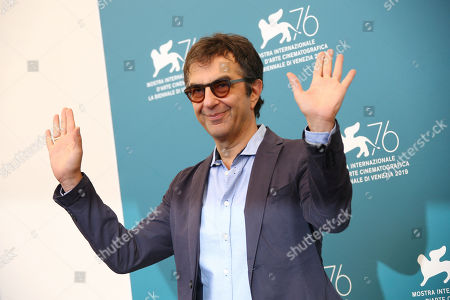 Atom Egoyan poses for photographers at the photo call for the film 'Guest of Honour' at the 76th edition of the Venice Film Festival in Venice, Italy