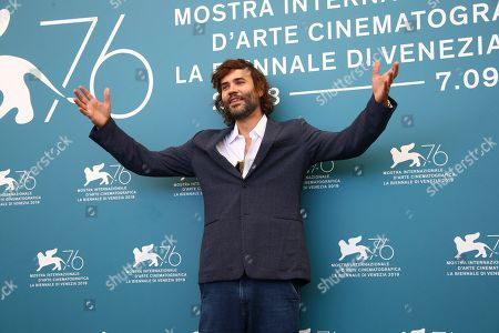 Rossif Sutherland poses for photographers at the photo call for the film 'Guest of Honour' at the 76th edition of the Venice Film Festival in Venice, Italy