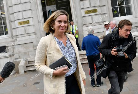 Secretary of State for Work and Pensions Amber Rudd attends attends the Cabinet Office in central London, Britain, 03 September 2019. Britain's Prime Minister Boris Johnson faces a vote in Parliament from Conservative rebels who are joining with opposition parties in bringing forward a bill designed to stop Britain leaving the EU on 31 October without an agreement.