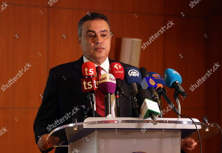Former Tunisian prime minister and presidential candidate of 'Al Badil' party Mehdi Jomaa speaks at an election campaign press conference in Tunis, Tunisia, 03 September 2019. The election campaign will run from 02 to 13 September. The first round of the presidential election in Tunisia will be held on 15 September.