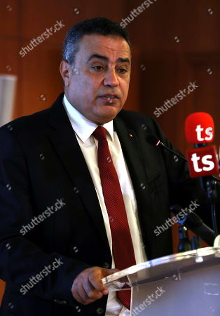 Former Tunisian prime minister and presidential candidate of 'Al Badil' party Mehdi Jomaa speaks during an election campaign press conference in Tunis, Tunisia, 03 September 2019. The election campaign will run from 02 to 13 September. The first round of the presidential election in Tunisia will be held on 15 September.