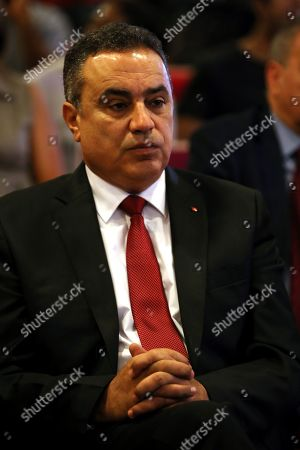 Former Tunisian prime minister and presidential candidate of 'Al Badil' party Mehdi Jomaa attends an election campaign press conference in Tunis, Tunisia, 03 September 2019. The election campaign will run from 02 to 13 September. The first round of the presidential election in Tunisia will be held on 15 September.