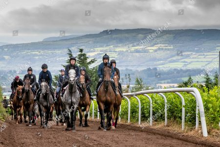 Trainer Joseph O'Brien Stables ahead of Pat Smullen Champions Race for Cancer Trial Photocall. Pictured today are Champion jockeys, Ruby Walsh on Glen of Aherlow, Charlie Swan on Shadow Seven, Joseph O?Brien on Abyssinian, Paul Carberry on Punches Cross and AP McCoy on Moment in History