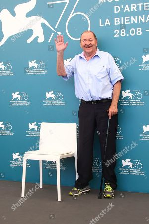 Roy Andersson poses for photographers at the photo call for the film 'About Endlessness' at the 76th edition of the Venice Film Festival in Venice, Italy