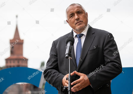 "Bulgarian Prime Minister Boyko Borissov attends a press conference with Christian Social Union (CSU) regional group chairman in the German parliament Bundestag Alexander Dobrindt (not pictured) during the CSU Bundestag faction convention ""#Kickoff"" in Berlin, Germany, 03 September, 2019. The event organized on the occasion of the opening of the second half of the political year and is expected to deal with issues like climate politics, mid-term review of the Grand Coalition (Groko) and the re-organization of the European Commission."
