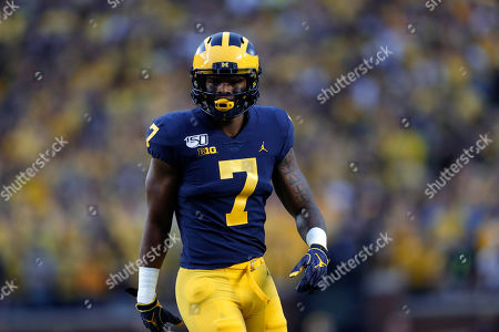 Michigan wide receiver Tarik Black plays against Middle Tennessee in the first half of an NCAA college football game in Ann Arbor, Mich