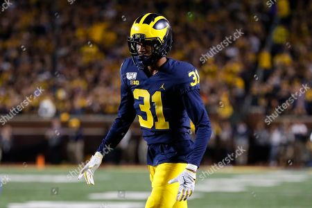 Michigan defensive back Vincent Gray (31) plays against Middle Tennessee in the first half of an NCAA college football game in Ann Arbor, Mich