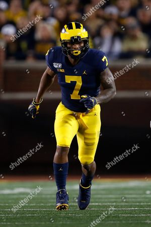 Michigan wide receiver Tarik Black runs a route against Middle Tennessee in the second half of an NCAA college football game in Ann Arbor, Mich