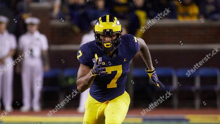 Michigan wide receiver Tarik Black (7) during an NCAA football game on in Ann Arbor, Mich