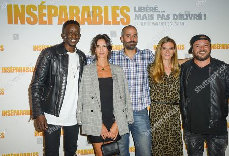 Stock Photo of Ahmed Sylla, Ornella Fleury, Varante Soudjian, Judith El Zein, Alban Ivanov and Ahmed Sylla