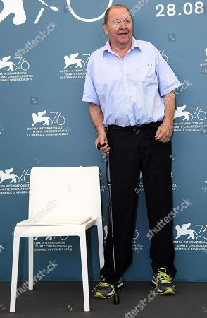 Roy Andersson poses at a photocall for 'Om Det Oandliga (About Endlessness)' during the 76th annual Venice International Film Festival, in Venice, Italy, 03 September 2019. The movie is presented in the official competition 'Venezia 76' at the festival running from 28 August to 07 September.