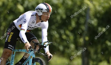 German rider Tony Martin of Jumbo-Visma team in action during the 10th stage of the Vuelta a Espana cycling tour, an individual time trial over 36.2km between Juracon and Pau, France, 03 September 2019.