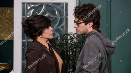 Stock Picture of Veronica Castro as Virginia de la Mora and Dario Yazbek Bernal as Julian de la Mora