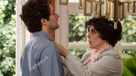 Stock Picture of Dario Yazbek Bernal as Julian de la Mora and Veronica Castro as Virginia de la Mora