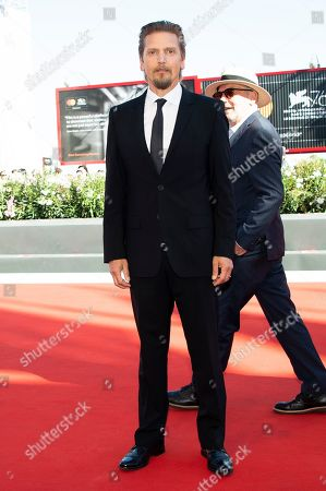 Barry Pepper poses for photographers upon arrival at the premiere of the film 'The Painted Bird' at the 76th edition of the Venice Film Festival, Venice, Italy
