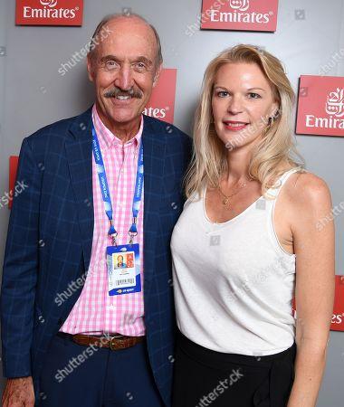 Nancy Clark and Stan Smith